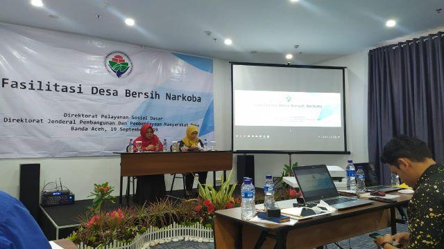 Fasilitasi Desa Bersih Narkoba Bersinar Tahun 2019