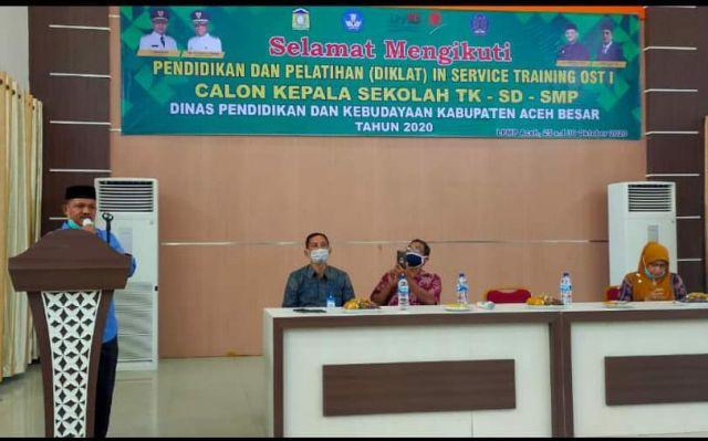 Kadisdikbud Buka In Service Training 1 Diklat CKS Aceh Besar