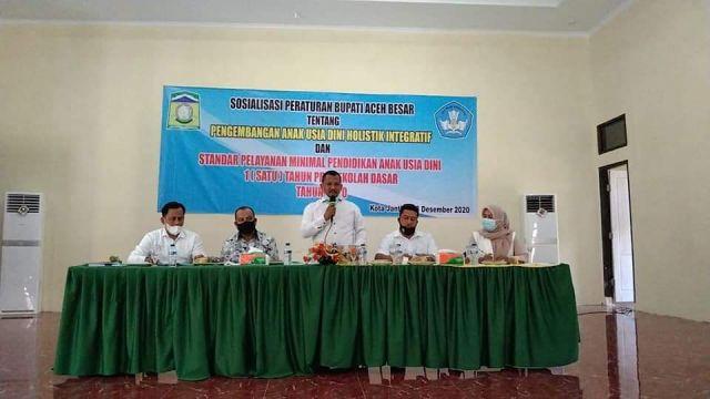 Disdikbud Sosialisasi Perbup Aceh Besar Tentang PAUD HI
