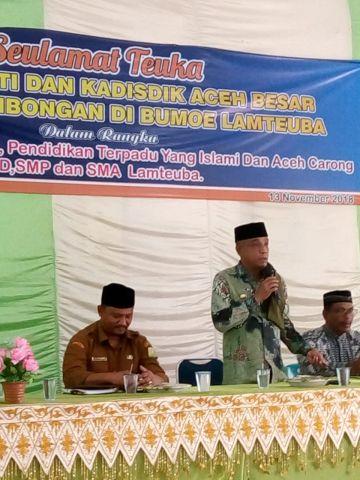 Sosialisasi SPT, Wabup Aceh Besar kunjungi Lamteuba