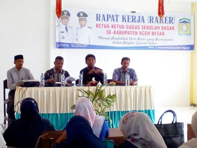 Kadisdikbud  Buka Raker Para Ketua Gugus SD Se-Aceh Besar