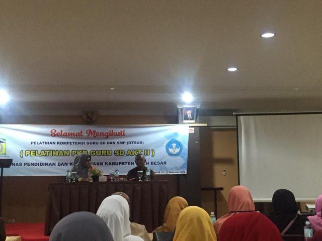 Disdikbud Aceh Besar Gelar PKB Akt 2