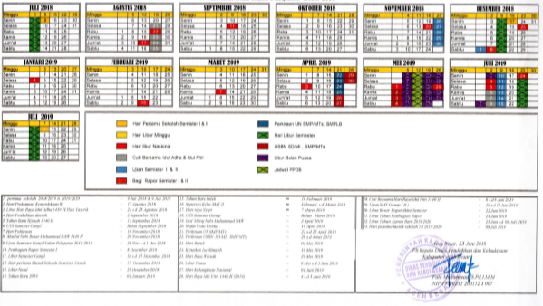 Kalender Pendidikan Aceh Besar Tahun Pelajaran 2018/2019