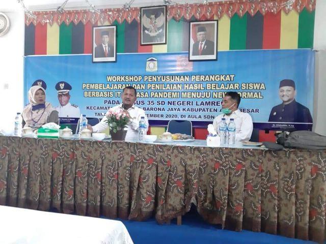 Kadisdikbud Buka Workshop Guru Gugus 35 SDN Lamreung