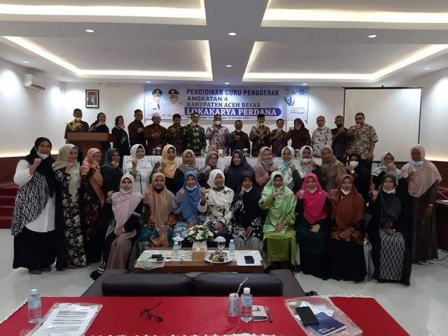 Wakili Bupati Aceh Besar Sekda  Buka Lokakarya Perdana Guru Penggerak