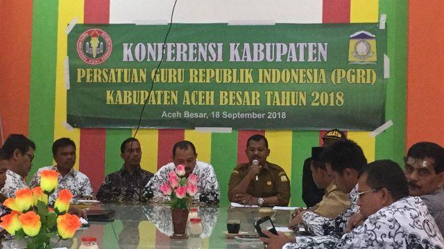 Al Munzir Assalamy Terpilih Menjadi Ketua PGRI Aceh Besar